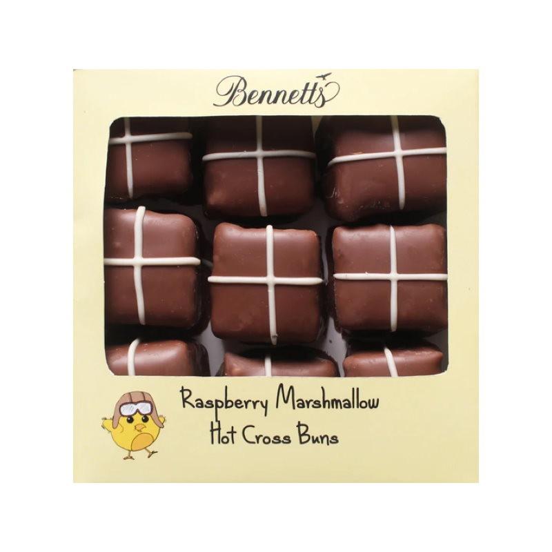 Bennetts Raspberry Marshmallow Hot Cross Buns
