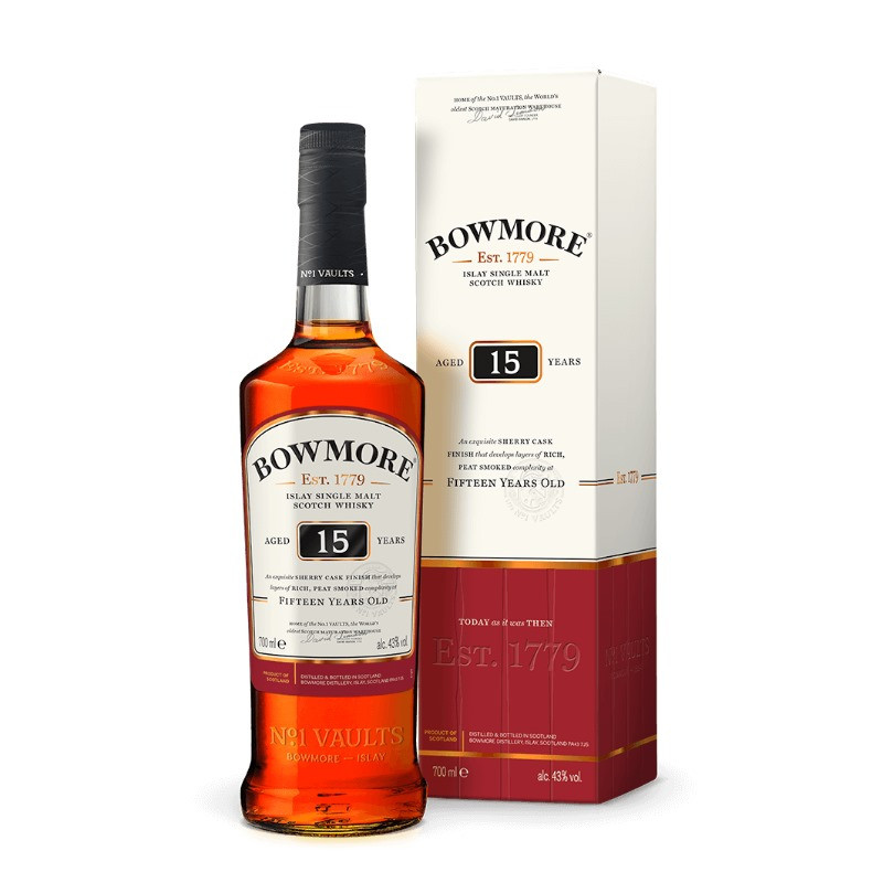 Bowmore 15 Year Old Darkest Single Malt Whisky