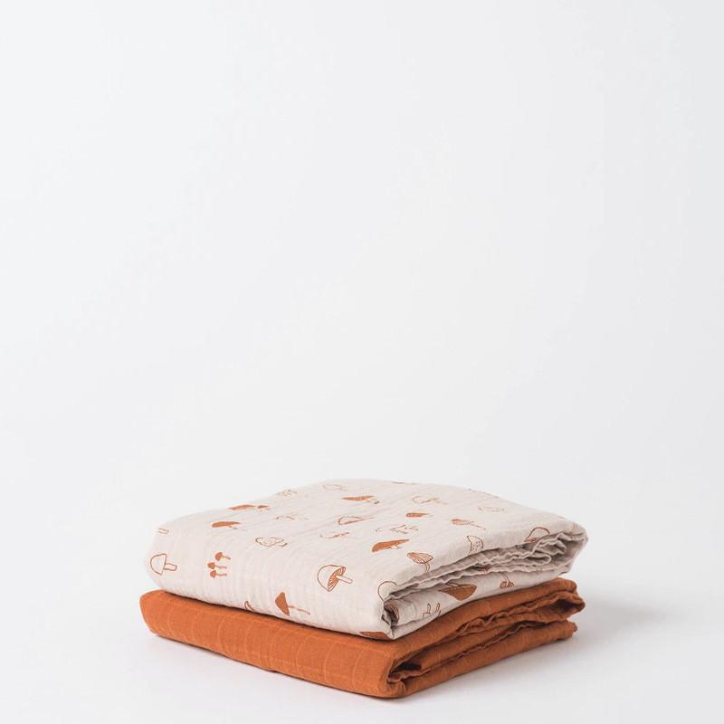 Citta Mushroom Muslin Wrap