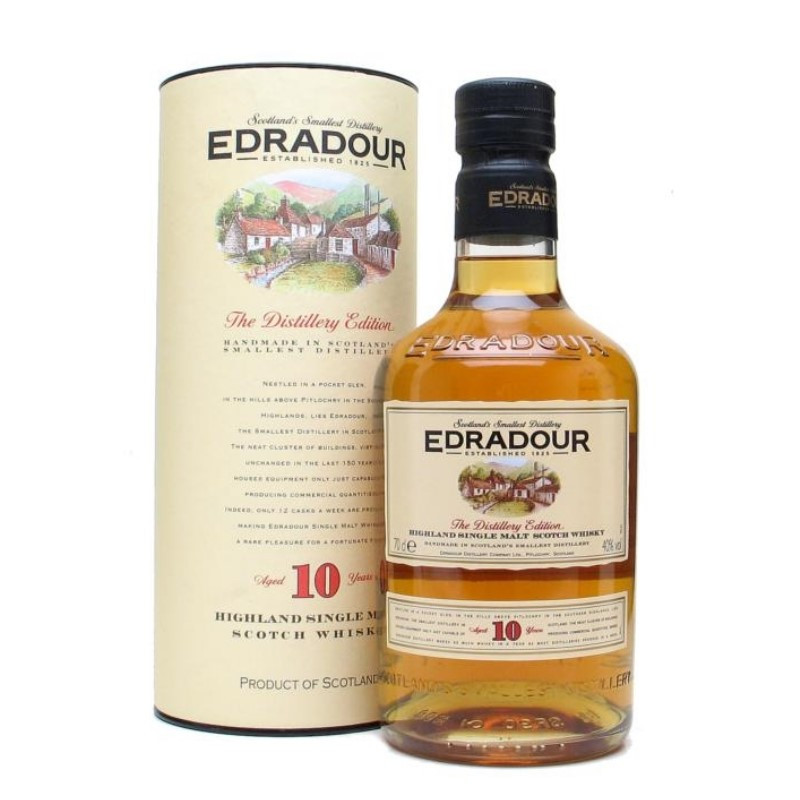Edradour 10 Year Old Single Malt Whisky