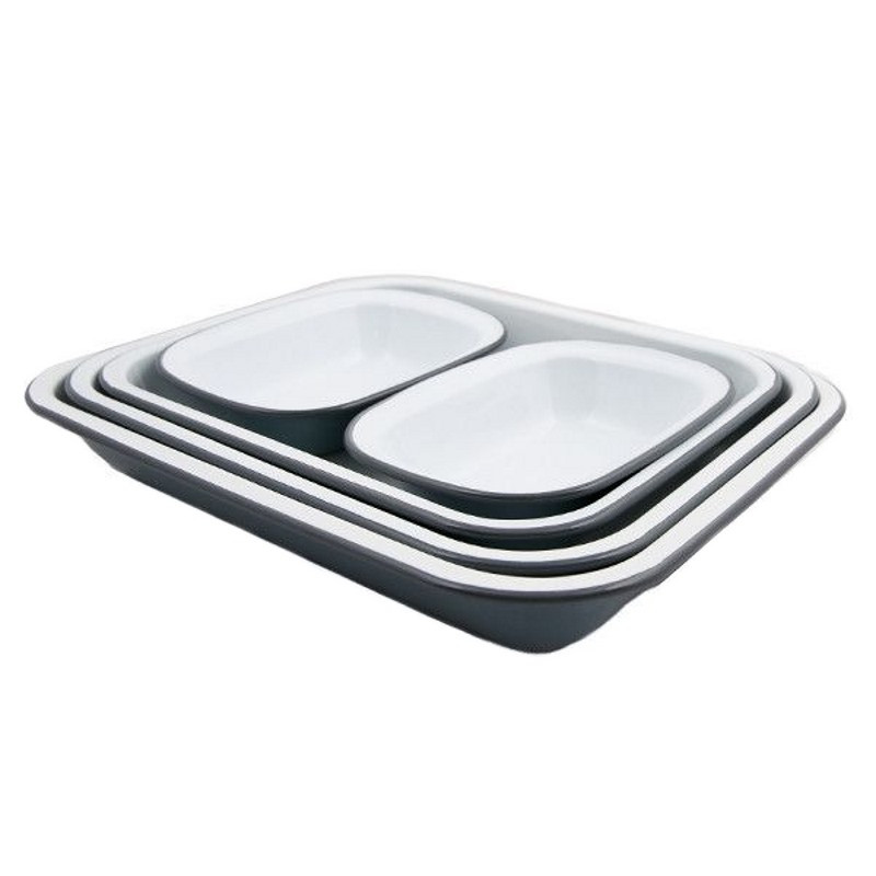 Falcon Enamel Bake Set Pigeon Grey