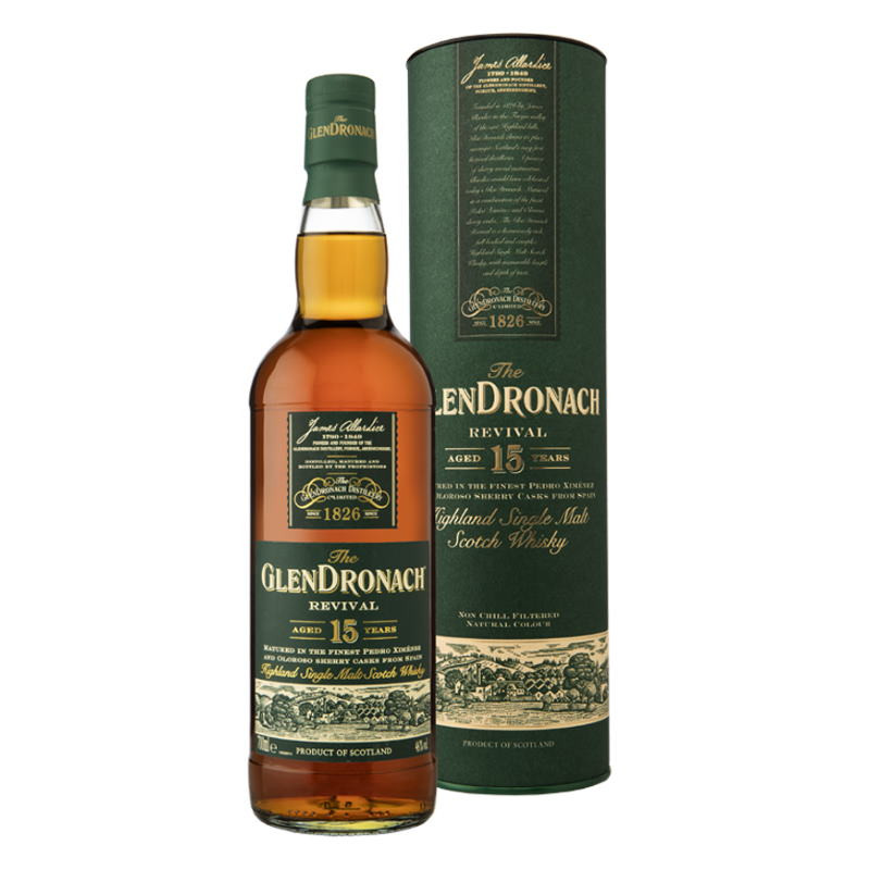 Glendronach 'The Revival' 15 Year Old Single Malt Scotch Whisky