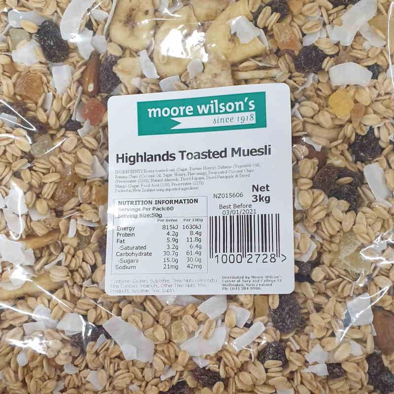 Moore Wilson's Highlands Toasted Muesli