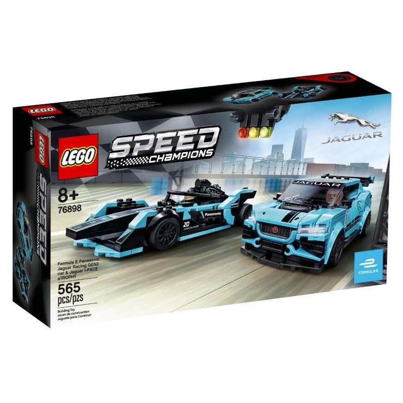 Lego Speed Champions Formula E Panasonic Jaguar Racing GEN2 car & Jaguar I-PACE eTROPHY