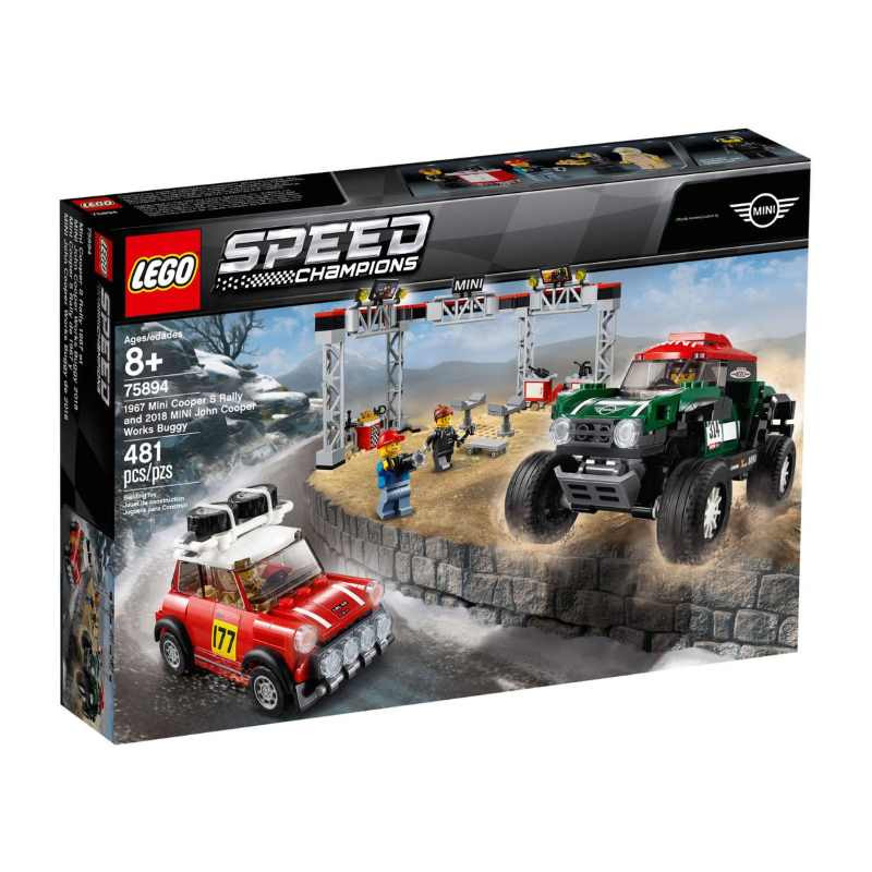 Lego Speed Champions 1967 Mini Cooper S Rally and 2018 MINI John Cooper Works Buggy
