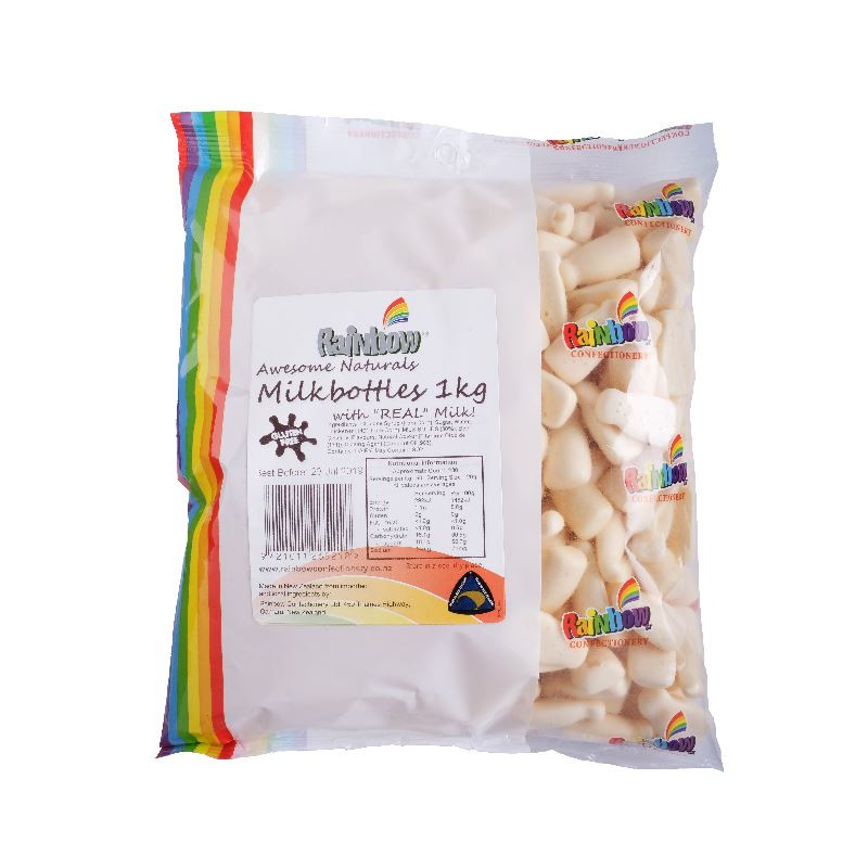 Rainbow Milk Bottles