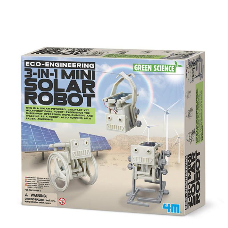 Eco-Engineering 3 in 1 Mini Solar Robot