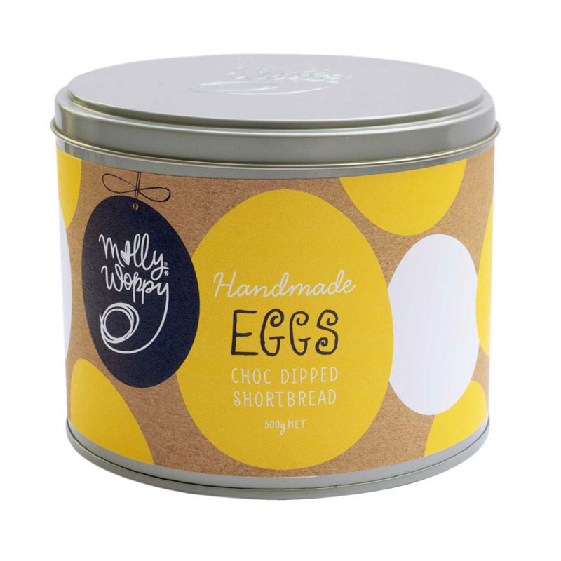 Molly Woppy Choc Dipped Shortbread 'Eggs'