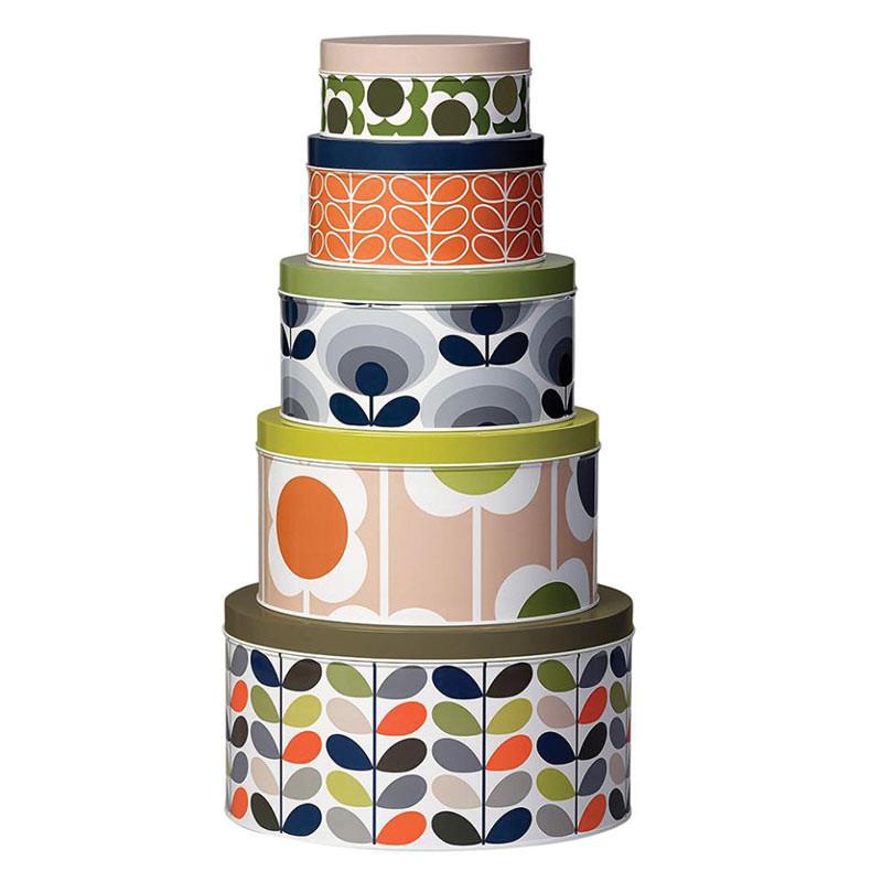 Orla Kiely Cake Tins Assorted Set of 5