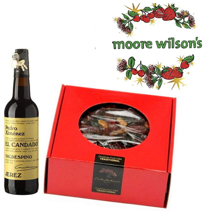Moore Wilson's Christmas Cake & Sherry Pack