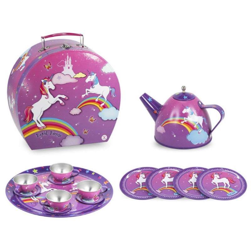 Pink Poppy Unicorn Tin Tea Set