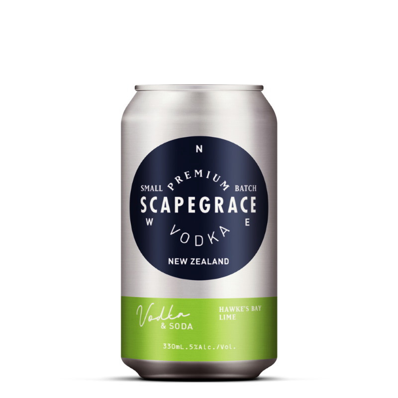 Scapegrace Vodka, Soda with Hawkes Bay Lime