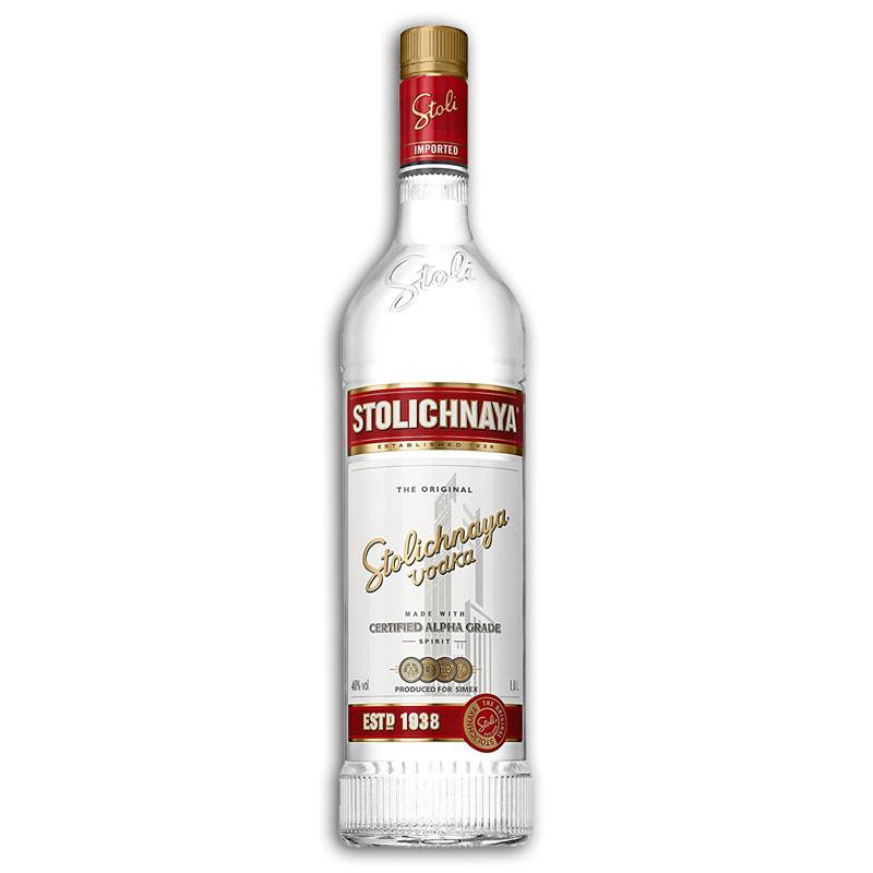 Stolichnaya Vodka 1 Litre red label Stoli Russian vodka ...