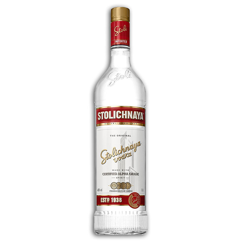 Stolichnaya Vodka 1 Litre red label Stoli Russian vodka ...