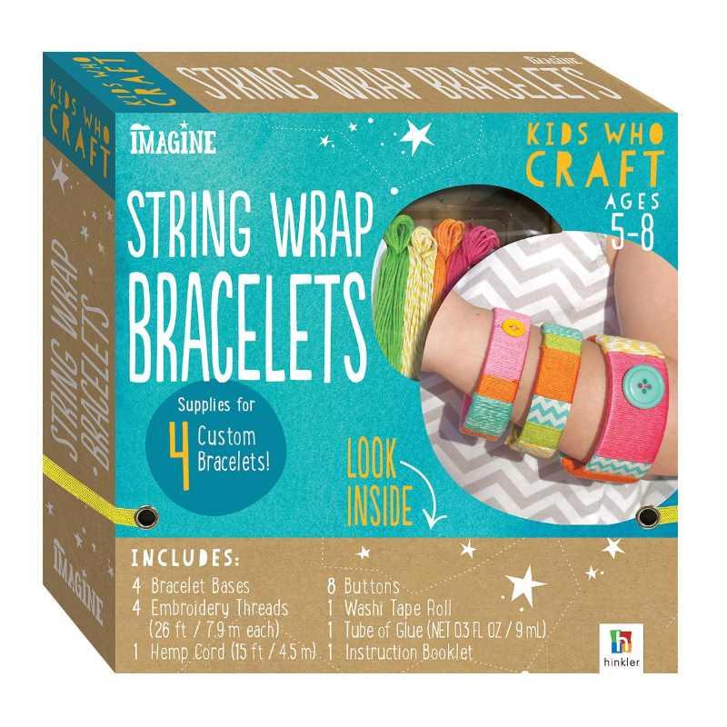 Imagine Craft String Wrap Bracelets