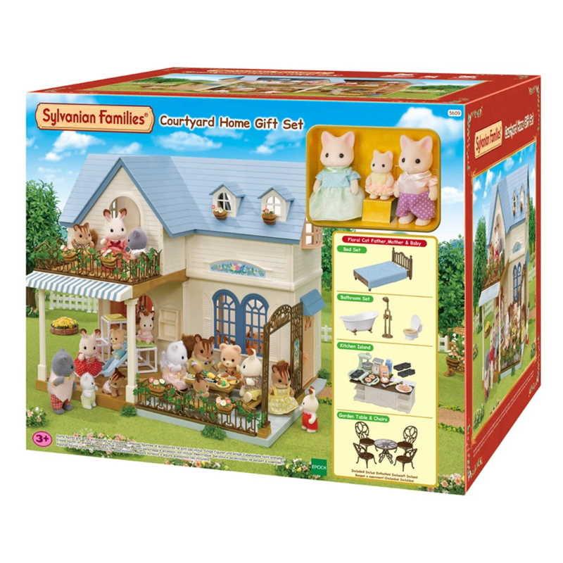 Sylvanian Courtyard Home Gift Set