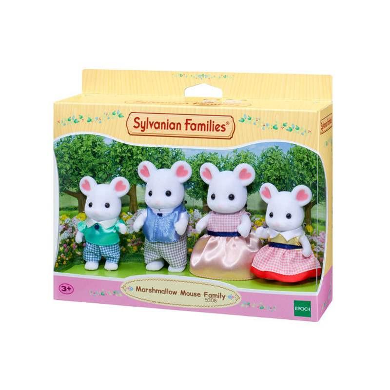 Sylvanian Marshmallow Mouse Family