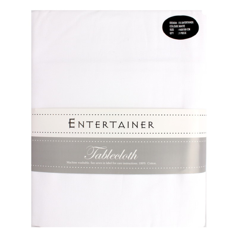 """Hot House """"Entertainer"""" Tablecloth White"""