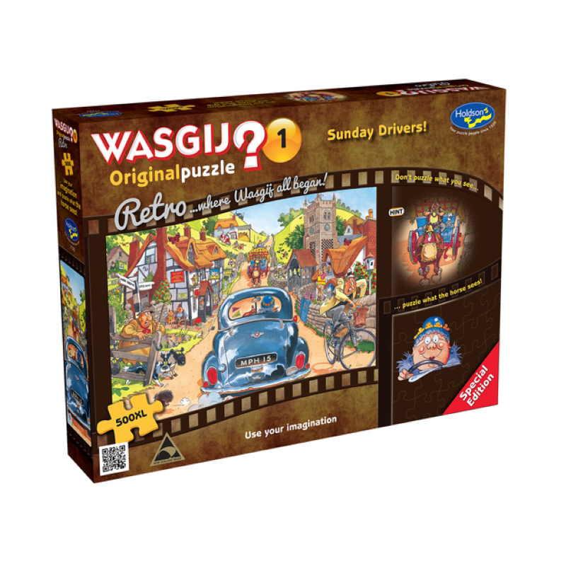 Retro Wasgij Original 1 - Sunday Drivers!