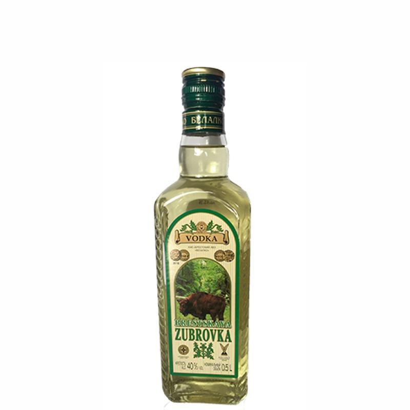 Brestskaya Zubrovka Bison Grass Vodka