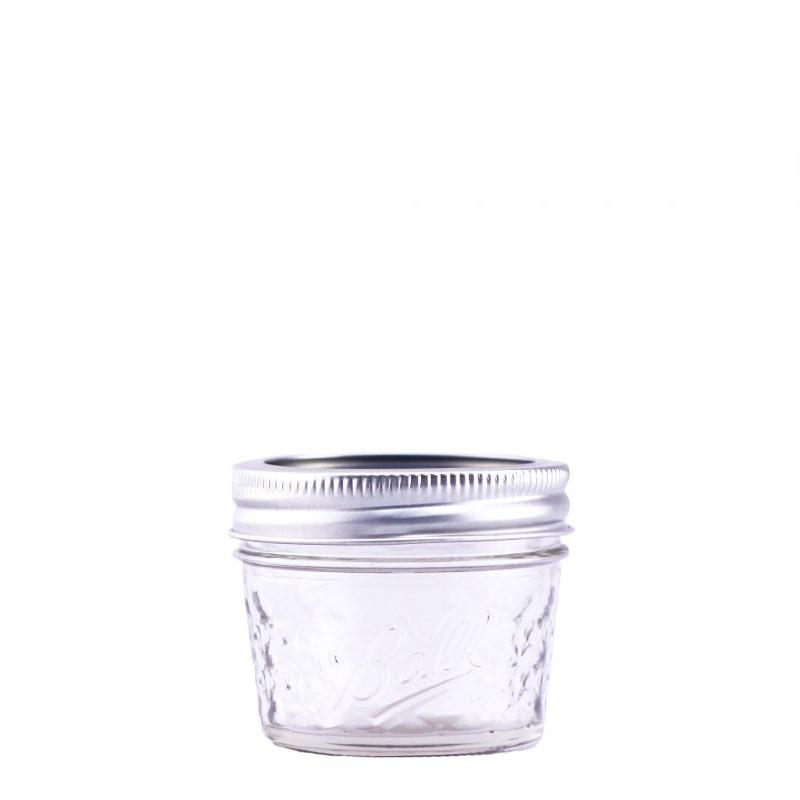 Ball Regular Mouth 4oz Quilted Glass Preserving Jar