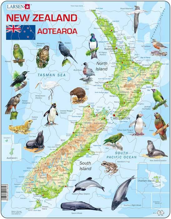 Larsen Map Of New Zealand Puzzle Moore Wilson S