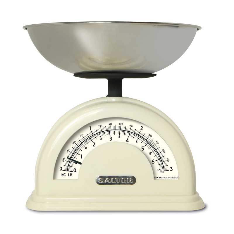Salter 120 Vintage Mechanical Kitchen Scales in cream Moore