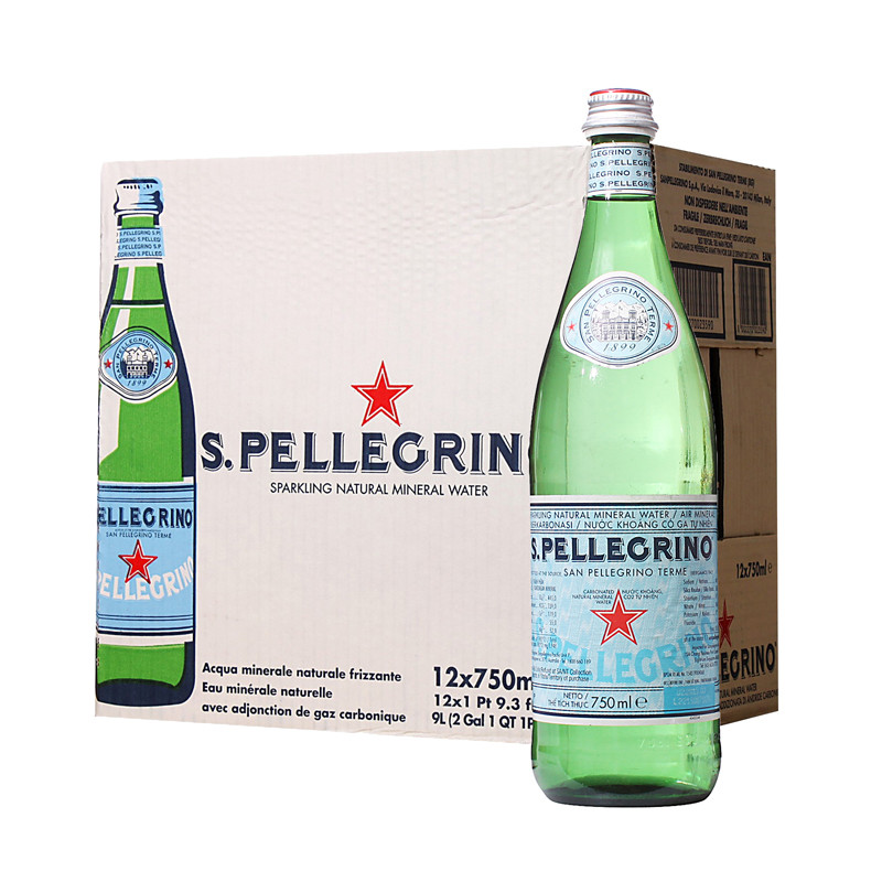 San Pellegrino Sparkling Mineral Water From Italy