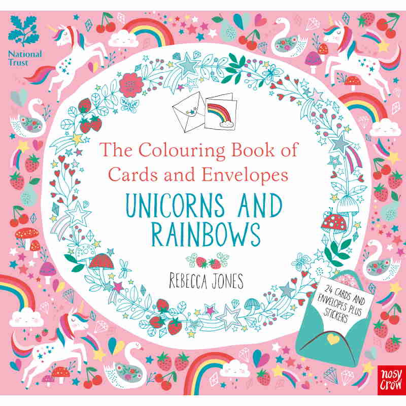 The Colouring Book Of Cards And Envelopes Unicorns And Rainbows Moore Wilson S