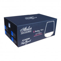 Luigi Bormioli Atelier Stemless Riesling glass - 6 pack