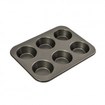 Bakemaster Large Muffin Pan 6 Cup