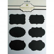 Chalkboard Labels - 12 different style adhesive labels