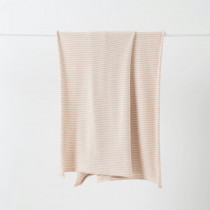 Citta Pinstripe Cotton Knit Cot Blanket