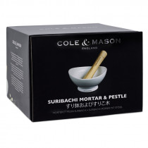 Cole & Mason Ceramic Suribachi Mortor & Pestle