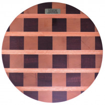 John Conway Round Chequered Chopping Board