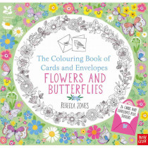 The Colouring Book of Cards and Envelopes : Flowers and Butterflies