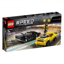 Lego Speed Champions 2018 Dodge Challenger SRT Demon and 1970 Dodge Charger R/T