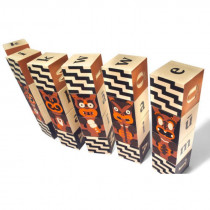 Maori Alphabet 24 Wood Embosssed Blocks
