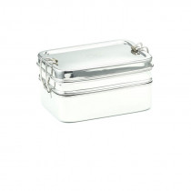 Meals In Steel Rectangular Double Layer Lunchbox