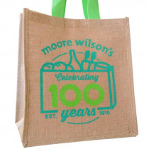 Moore Wilson's 100 Years Jute Grocer's Bag