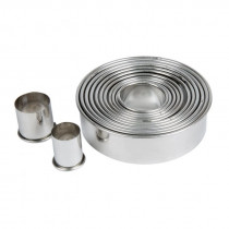Round Stainless Steel Cookie Cutters