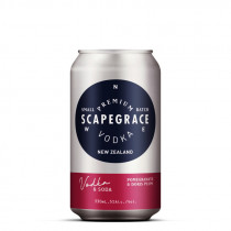 Scapegrace Vodka Soda with Pomegranate & Doris Plum