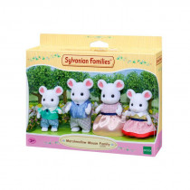Sylvanian Marshmallow Mouse Family