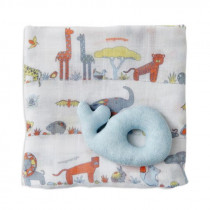 Weegoamigo Holey Rattle & Muslin Whale