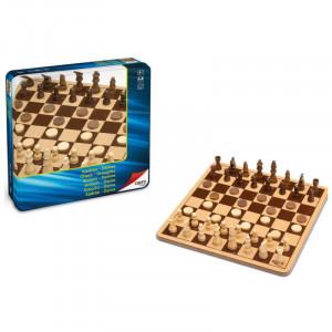 Chess & Draughts Metal Box