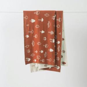 Citta Mushroom Cotton Knit Cot Blanket
