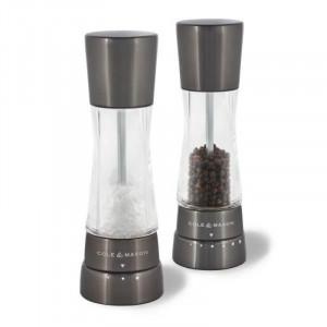 Cole & Mason Derwent Gun Metal Gourmet Precision+ Salt & Pepper Mill Set