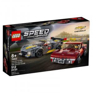 Lego Speed Champions Chevrolet Corvette C8.R Race Car and 1968 Chevrolet Corvette