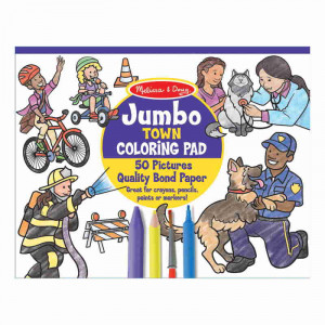 Melissa & Doug Colouring Pad Town