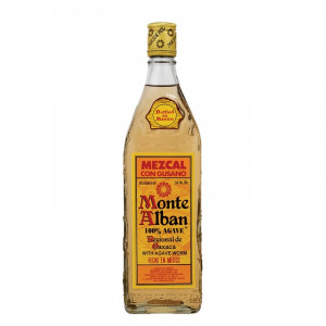 Monte Alban Mezcal Tequila With Worm